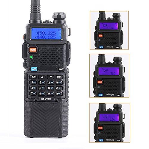 HESENATE HT-UV8R Plus High Power 8-Watt w/ 3800mAh Large Battery Two-way Radio Dual Band (2M/70CM) Tri-Power Handheld Transceiver Portable Walkie Talkies Long Range HAM Radio