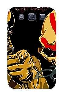 linJUN FENGGalaxy S3 Case Cover - Slim Fit Tpu Protector Shock Absorbent Case (five Finger Death Punch Heavy Metal Hard Rock Bands Skull Skulls Dark)