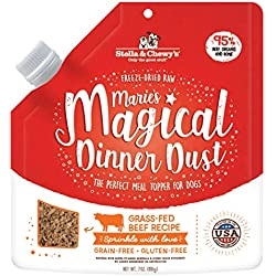 Stella & Chewy's Freeze-Dried Raw Marie's Magical Dinner Dust Grass-Fed Beef Recipe Dog Food Topper, 7 oz