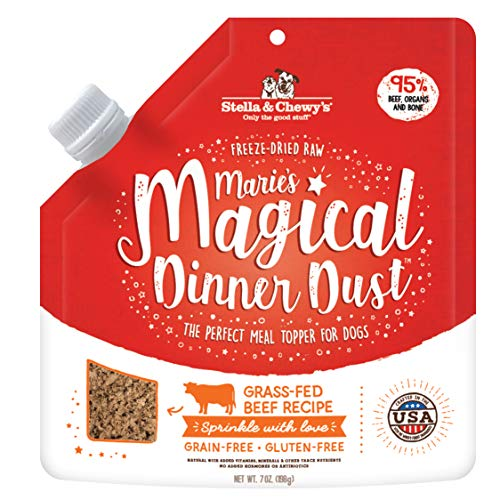 Stella & Chewys Freeze-Dried Raw Maries Magical Dinner Dust Grass-Fed Beef Recipe Dog Food Topper, 7 oz