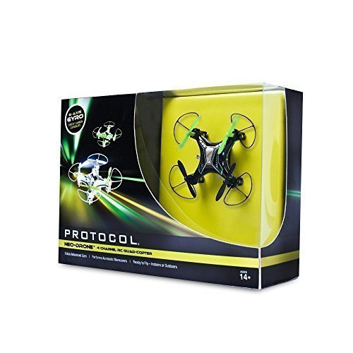Protocol - Slipstream 4-channel Radio-controlled Mini Quad-copter - White/blue