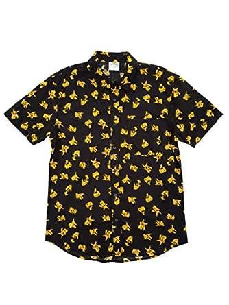 Amazon.com: Pokémon Pikachu All-Over Print Button Up Mens