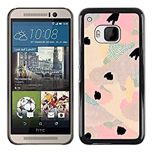 Paccase / SLIM PC / Aliminium Casa Carcasa Funda Case Cover para - Abstract Floral Light Teal Pink Purple Petal - HTC One M9