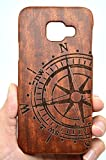 VolksRose Samsung Galaxy A3 (2016) Wood Case - Rose Wood Compass - Premium Quality Natural Wooden Case for your Smartphone and Tablet
