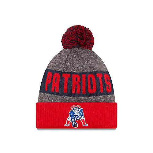 Men's New Era New England Patriots 2016 Classic Sport Knit Hat Heather Grey Size One Size