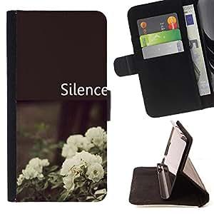 King Case - FOR Samsung Galaxy S5 V SM-G900 - Believe me - Prima caja de la PU billetera de cuero con ranuras para tarjetas, efectivo Compartimiento desmontable y correa para la mu?eca