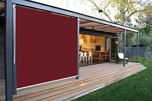 Ecover Exterior Roller Shade Outdoor Sun Screens Shade 8x6ft Wine Red - Exterior Sunscreen
