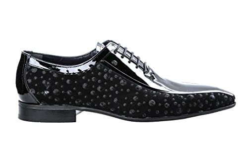 Roberto Serpentini 6605 Black Suede with Leather Itaian Designer Men Dress  Shoes 933823a33d4