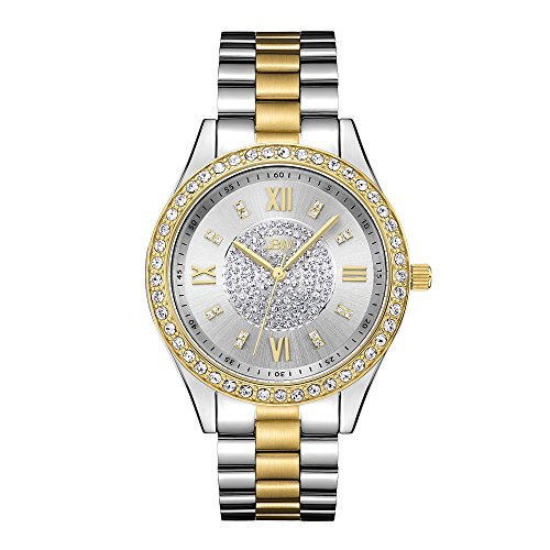 (JBW Women Mondrian Japanese Quartz Watch with Two-Tone Gold-Plated Stainless Steel Strap, 18 (Model: J6303G))