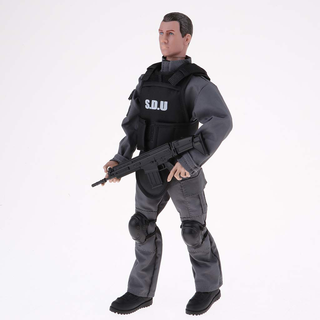 Hellery 1 6 Men Soldiers Action Figure Playset con Accessori per Bambini Ragazze