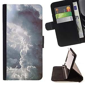 King Case - FOR HTC One M8 - A rainbow in the end - Prima caja de la PU billetera de cuero con ranuras para tarjetas, efectivo Compartimiento desmontable y correa para la mu?eca
