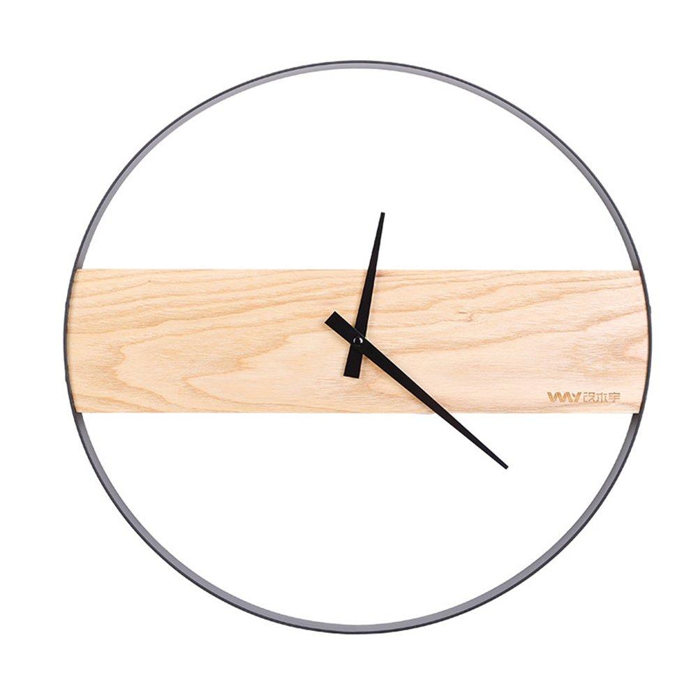 ホームウォールクロックリビングルームのパーソナリティ16インチの木の壁の時計クリエイティブファッションの壁時計モダニズムのウォールクロックミュートのベッドルーム14インチの壁時計YZRCRK (色 : A) B07DHNLRSL A A