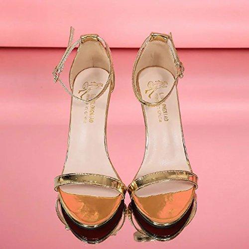 Yy De Femme Ete Argent Talon 8 Yyf Cm Environ Printemps Elegante Or A Pour Noir Blanc f Chaussure AFrA1Uq