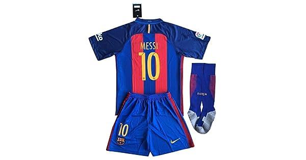 Amazon.com: Messi # 10 Barcelona Jersey De Fútbol Set ...