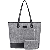UtoteBag Women 15.6 Inch Laptop Tote Bag Notebook Shoulder Bag Lightweight Multi-Pocket Nylon Business Work Office Briefcase for Computer/MacBook / Ultrabook (Grey)