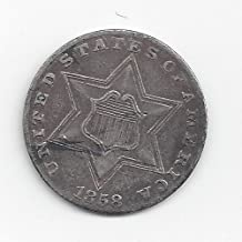 1851 Various Mint Marks Three Cent Silver 1851-1872 Three-Cent About Good Details or better