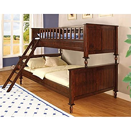 Furniture Of America Monteus Bunk Bed In Brown Cherry