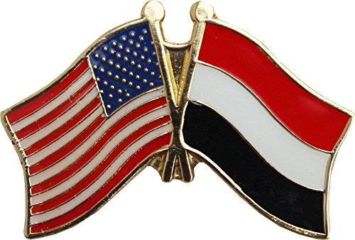 (ALBATROS USA American Yemen Flag Bike Motorcycle Hat Cap Lapel Pin for Home and Parades, Official Party, All Weather Indoors Outdoors)