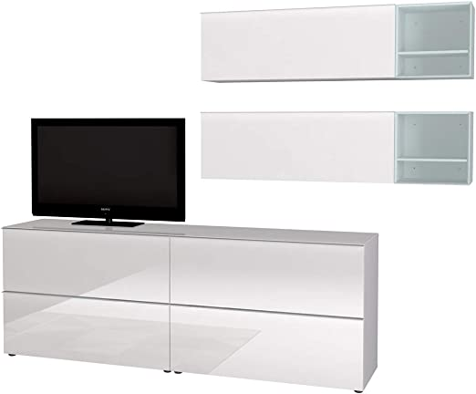 Pegane Wohnzimmer Set Tv Mobel Farbe Weiss Mit Wurfel Nordic Blau Amazon De Kuche Haushalt