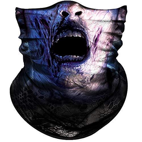 Obacle Skull Face Mask Half Sun Dust Protection, Seamless Tube Mask, Durable Face Mask Bandana Skeleton Face Shield Motorcycle Fishing Hunting Cycling Riding Festival Many Patterns for $<!--$9.90-->