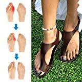 Summer Woman Orthotic Sandals Beach Shoes Slippers PU Leather Foot Casual Comfy Breathable