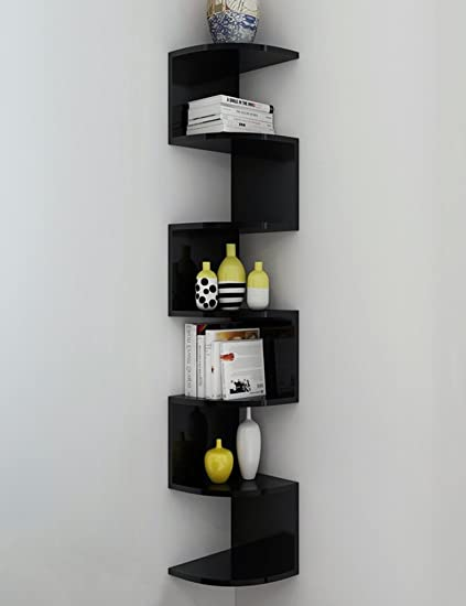 Amazon.com: Corner Bookshelf Shelf Shelves Storage Rack Wall Corner ...