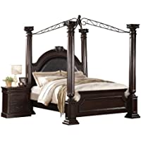 ACME 21340Q Roman Empire II Bed, Queen, Dark Cherry Finish