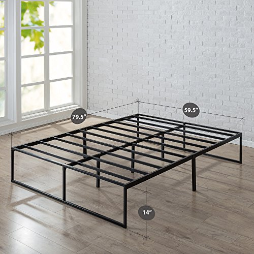 Zinus 14 Inch Platforma Bed Frame, Mattress Foundation, No Box Spring needed, Steel Slat Support, Queen