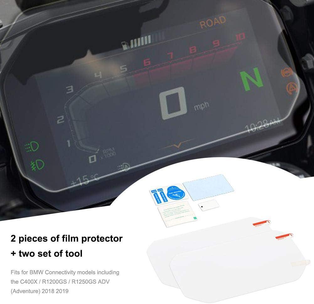 1 x Clair /& 1 x Anti-Reflet BMW R1250GS 2018 Connectivity Protecteur d/'écran