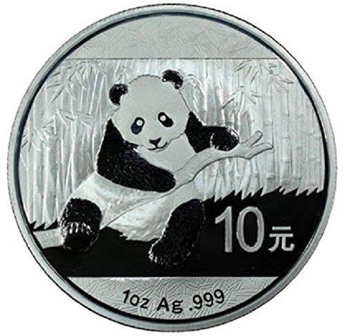 2014 China 1 oz Silver Panda Coin Brilliant Uncirculated