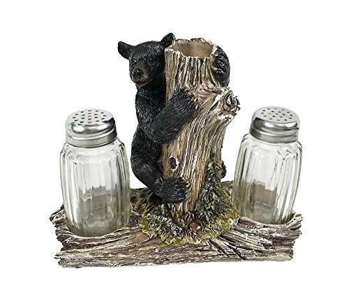 VoojoStore Bear On Tree Salt and Pepper Shakers - Unique Gift For Birthday Christmas Wedding Anniversary Engagement Graduation Couples Men Women Mom Dad Grandpa Sister Wife Husband ()
