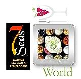 The WORLD Gourmet Sea Salt Sampler Beautifully Presented in a Custom Embossed Tin