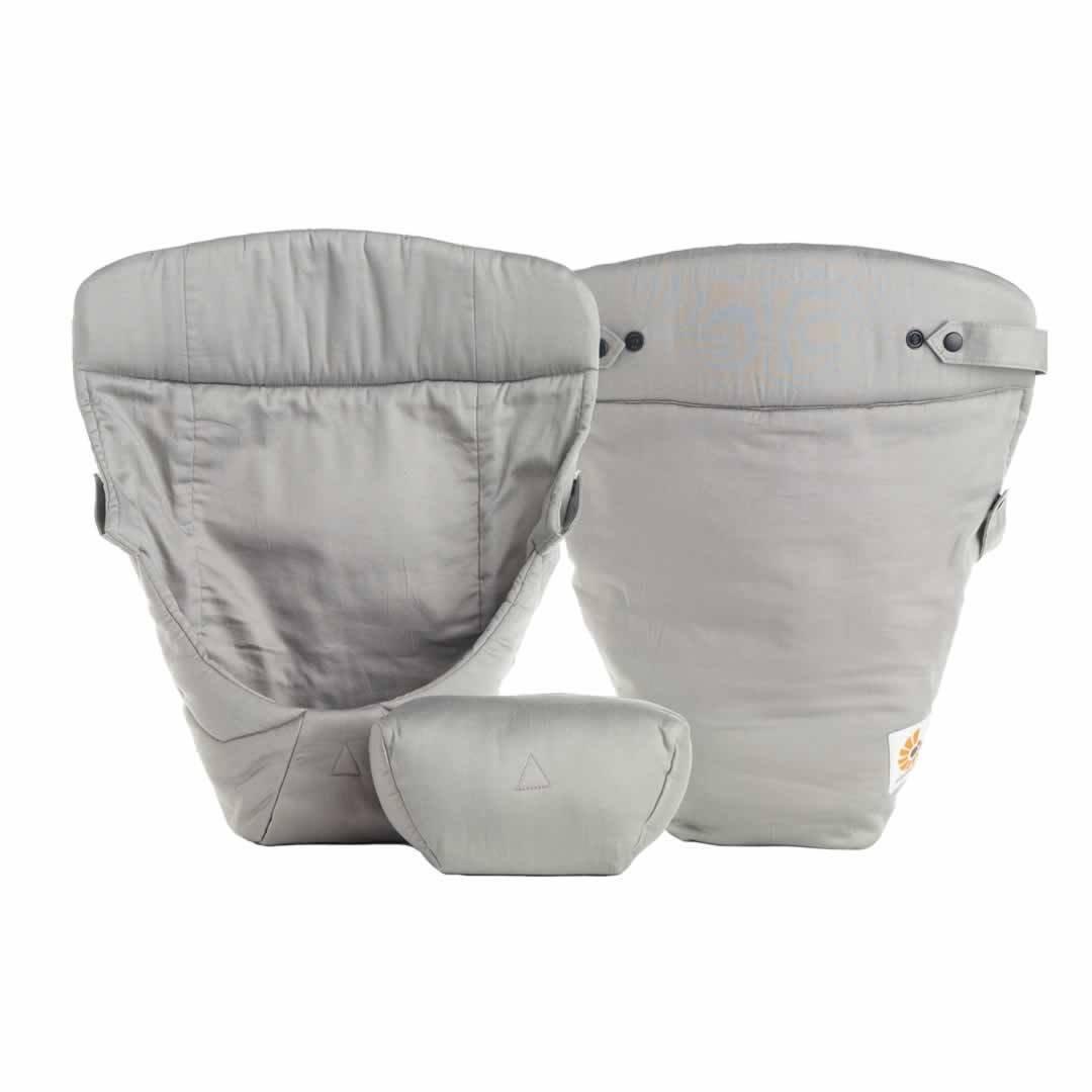 Ergobaby Babytrage 360 Pure schwarz (New 2016 Farbe) inkl. grau Einsatz für Neugeborene