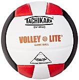 Tachikara SVMN SCL/WH/BLK Volley-Lite Micro-Fiber Volleyball, Composite Leather, Scarlet/White/Black
