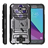 Cheap TurtleArmor | Compatible for Samsung Galaxy J3 Emerge Case | J3 (2017) [Hyper Shock] Hybrid Dual Layer Armor Holster Belt Clip Case Kickstand – Classic Game Controller