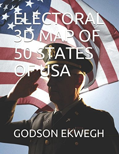ELECTORAL  3D MAP OF 50 STATES OF USA (States By Order Of Entry Into The Union)