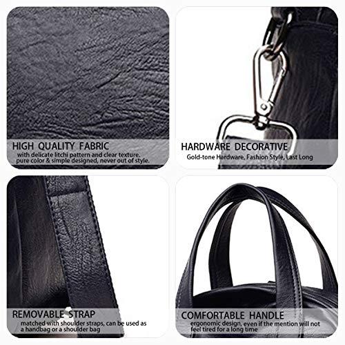 portés Faux Noir Sacs bandoulière dos portés Cuir Sacs Bleu main Femme Sacs DEERWORD qX0UfU