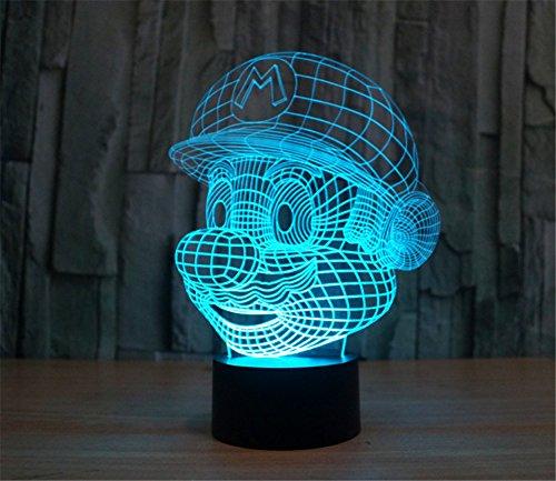 SmartEra® 3D Optical Illusion Super Mario Panel Model Lig...