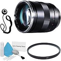Zeiss 135mm f/2.0 Lens for Canon Digital SLR Cameras + 77mm UV Filter + Lens Cap Keeper + Deluxe Cleaning Kit DavisMAX Bundle - International Version (No Warranty)