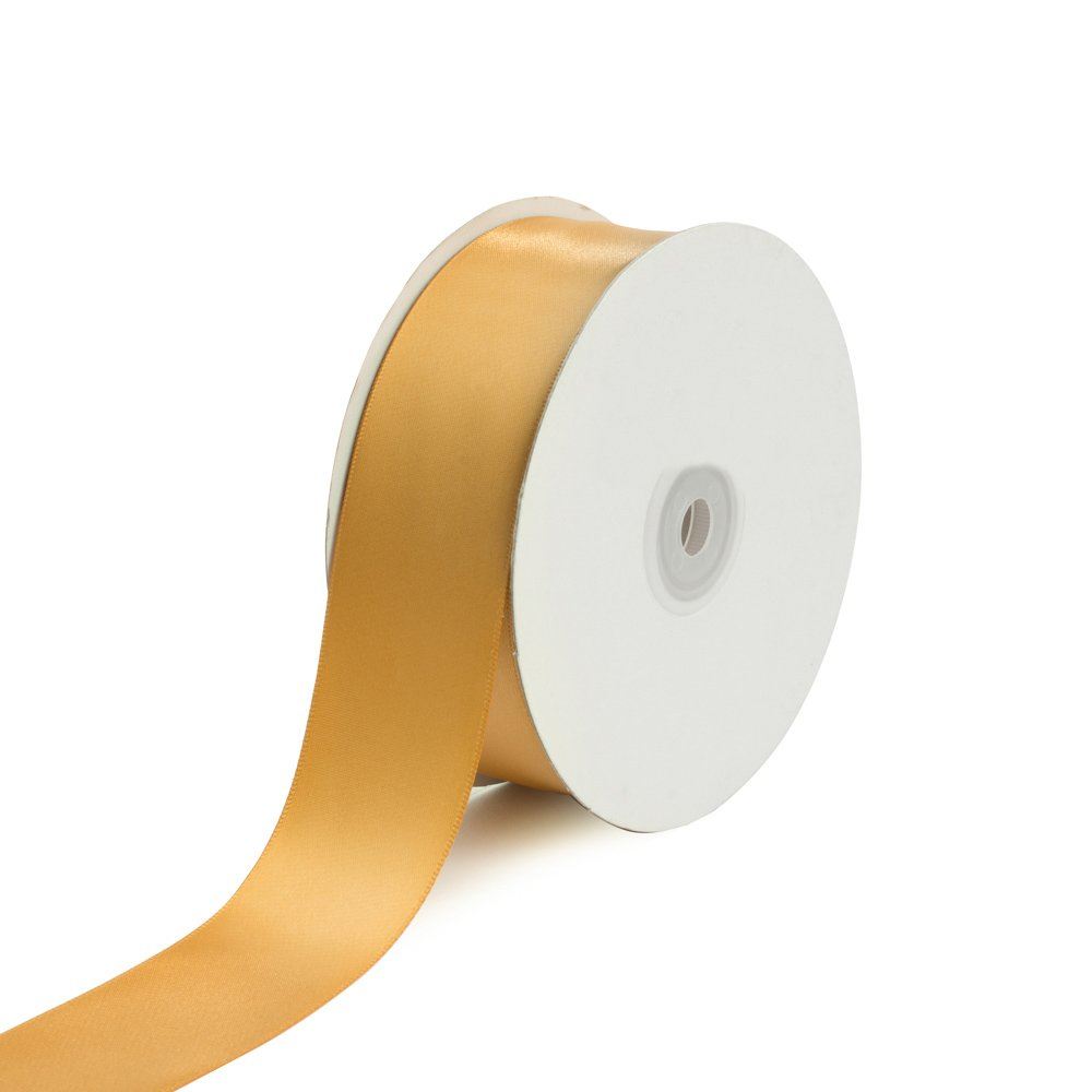 Creative Ideas Solid Satin Ribbon, 1-1/2''/50 yd, Antique Gold by Creative Ideas