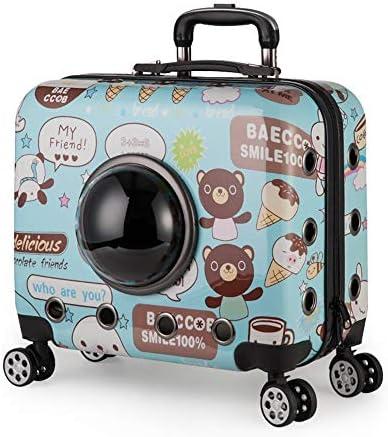 Sportgosto ペット持ち運び用バッグトロリーバッグ猫スペース四輪犬ペットバックパック (色 : As-picture, サイズ : 43*23*41CM)