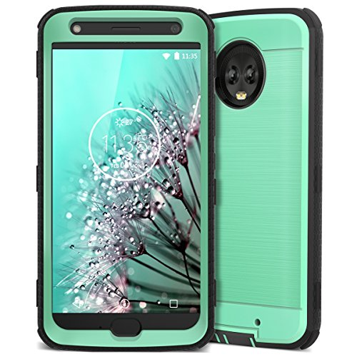 Moto X4 Case, CinoCase X4 Phone Case Heavy Duty Rugged Armor Protective Case Hybrid TPU Bumper Shockproof Case with Brushed Metal Texture Hard PC Back for Moto X4 Mint