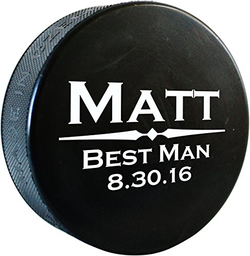 Pucks Personalized Hockey (Personalized Hockey Puck, Regulation Size, Custom Hockey Gifts - Will You Be My Best Man? Gift - HC01.HKY001)