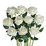zjchao Gifts fro Her Women 24K Gold Rose Made from Real Fresh Long Stem Roses Flower, Great Anniversary with Gift Box & Stand (Yellow)