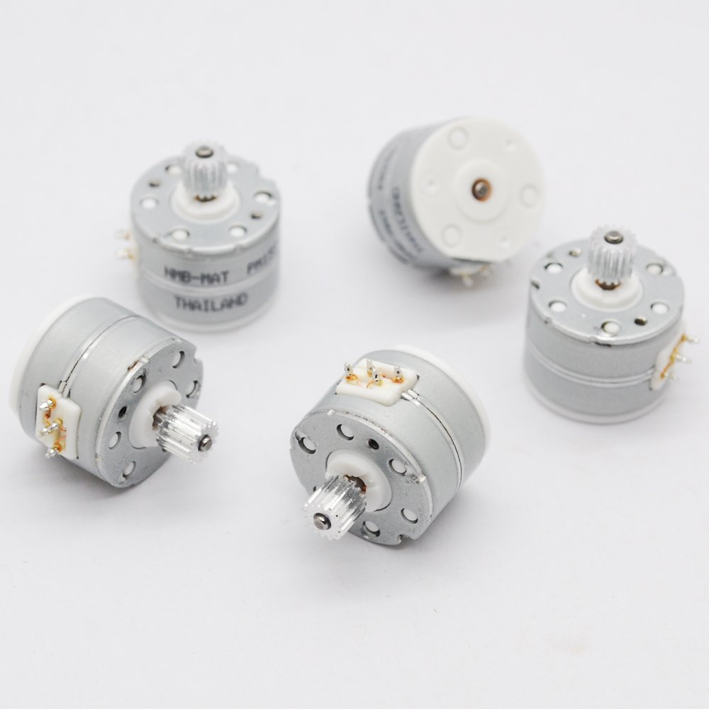 3 Pcs NMB 3V -5V DC 2 Phase 4 Wire Micro Stepper Motor Dia 15mm Step Angle 18 Degrees with Metal Gear PM15S-020-SKH4