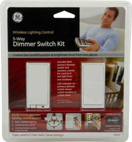ge 45613 wave. GE 45613 ZWave Wireless Lighting Control ThreeWay Dimmer Kit Wall Switches Amazoncom Ge Wave 4