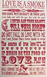 Temple Island Collection Shakespeare Quotes on LOVE Tea Towel | 100% Cotton | 47 X 77cm