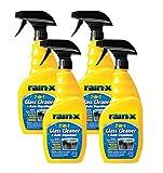 Rain-X 5071268-4PK Glass Cleaner + Rain Repellent, 23 oz. (Pack of 4)