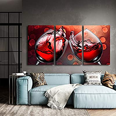 Abstract Cloud Tree Pictures Home Wall for Bedroom Living Room Oil Paintings Framed ( x 3 Panels Artwork 18)