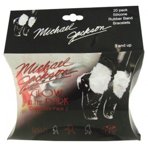 Glow in the Dark Michael Jackson Silly Bands 20ct Rubber Bandz Collection Pack 2 by Silly Bands (Image #1)